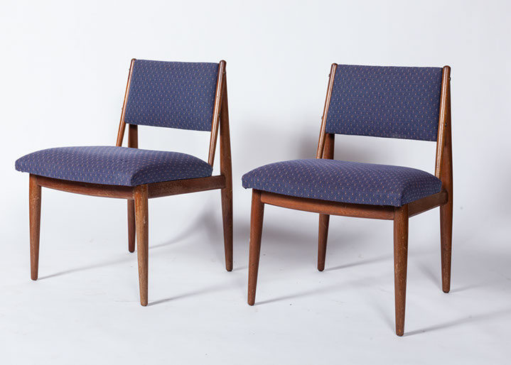 MCM Walnut Dining Chairs. PreviousPlaynext