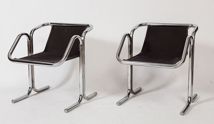 previousPlaynext & AE Design | Jerry Johnson Tubular Chrome Dining Chairs