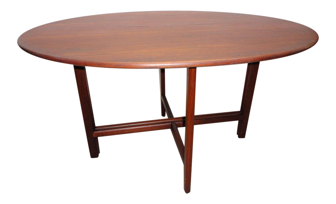 Ae Design Danish Modern Teak Oval Dining Table